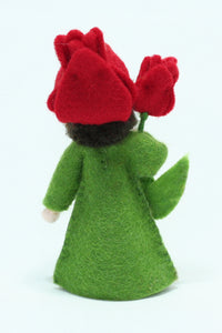 Tulip Fairy - Eco Flower Fairies, handmade wool felt Waldorf dolls