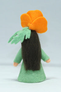 Golden Poppy Fairy | Waldorf Doll Shop | Eco Flower Fairies | Handmade by Ambrosius