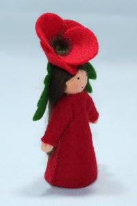 Red Poppy Fairy | Waldorf Doll Shop | Eco Flower Fairies