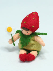 Strawberry Baby | Waldorf Doll Shop | Eco Flower Fairies | Handmade by Ambrosius