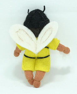 Bee Baby (bendable hanging felt doll, with onesie)