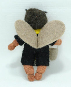 Bee Baby (bendable hanging felt doll, with apron)