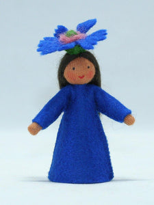 Cornflower Fairy | Waldorf Doll Shop | Eco Flower Fairies