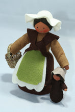 Mother Earth with Baby Seed - Eco Flower Fairies, handmade wool felt Waldorf dolls