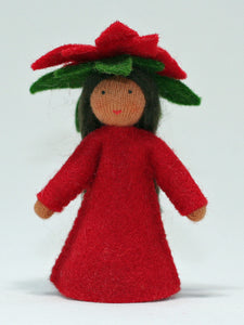 Poinsettia Fairy | Waldorf Doll Shop | Eco Flower Fairies