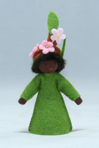 Apple Blossom Prince (standing felt doll, flower hat) - Eco Flower Fairies - Waldorf Doll Shop - Handmade by Ambrosius