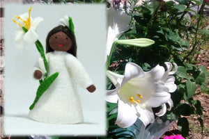 Easter Lily Fairy | Waldorf Doll Shop | Eco Flower Fairies