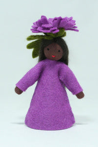 Chrysanthemum Fairy - Eco Flower Fairies, handmade wool felt Waldorf dolls