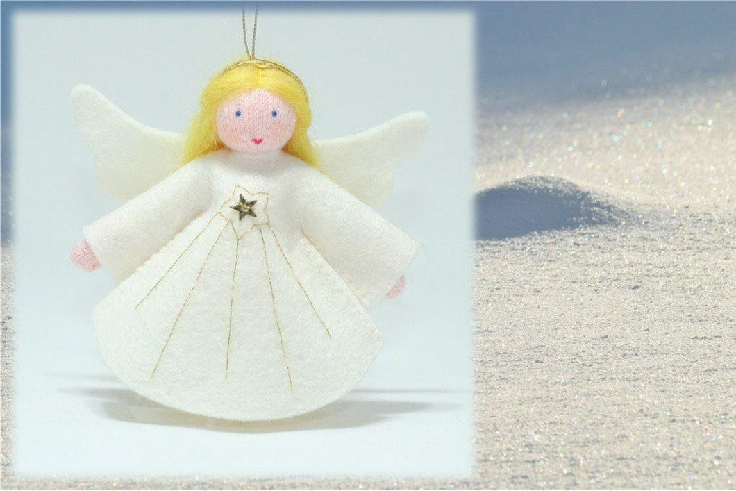 Abundance Angel - Eco Flower Fairies, handmade wool felt Waldorf dolls