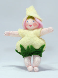 Baby Rose - Eco Flower Fairies, handmade wool felt Waldorf dolls
