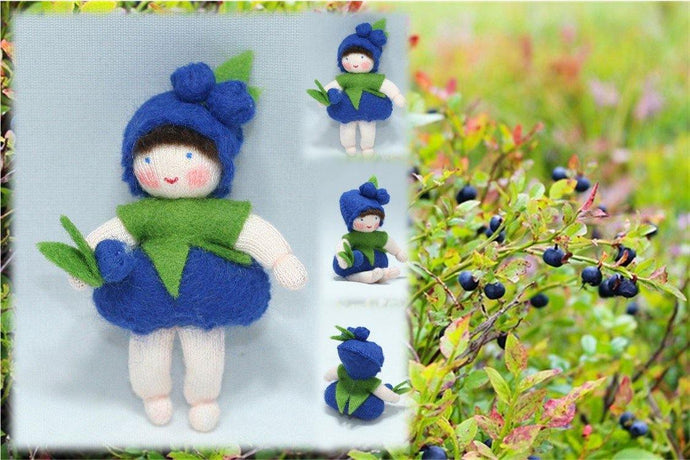 Blueberry Baby | Waldorf Doll Shop | Eco Flower Fairieswer Fairies | Handmade by Ambrosius