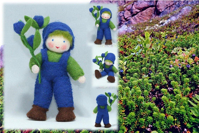 Blueberry Child | Waldorf Doll Shop | Eco Flower Fairies | Handmade by Ambrosius