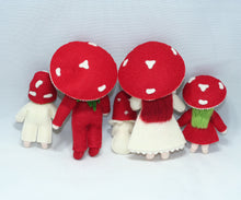 Red Mushroom Family | Waldorf Doll Shop | Eco Flower Fairies