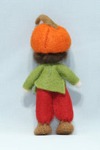 Pumpkin Child - Eco Flower Fairies, handmade wool felt Waldorf dolls