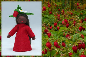 Wild Strawberry Fairy | Waldorf Doll Shop | Eco Flower Fairies
