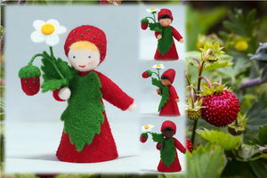Wild Strawberry Prince | Waldorf Doll Shop | Eco Flower Fairies