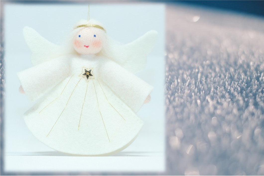 Peace Angel - Eco Flower Fairies, handmade wool felt Waldorf dolls