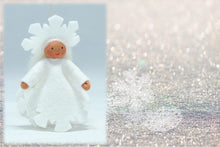 Snowflake Princess (hanging felt doll, white outfit)