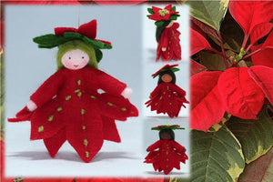 Poinsettia Princess | Waldorf Doll Shop | Eco Flower Fairies