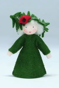 Yew Tree Fairy - Eco Flower Fairies, handmade wool felt Waldorf dolls