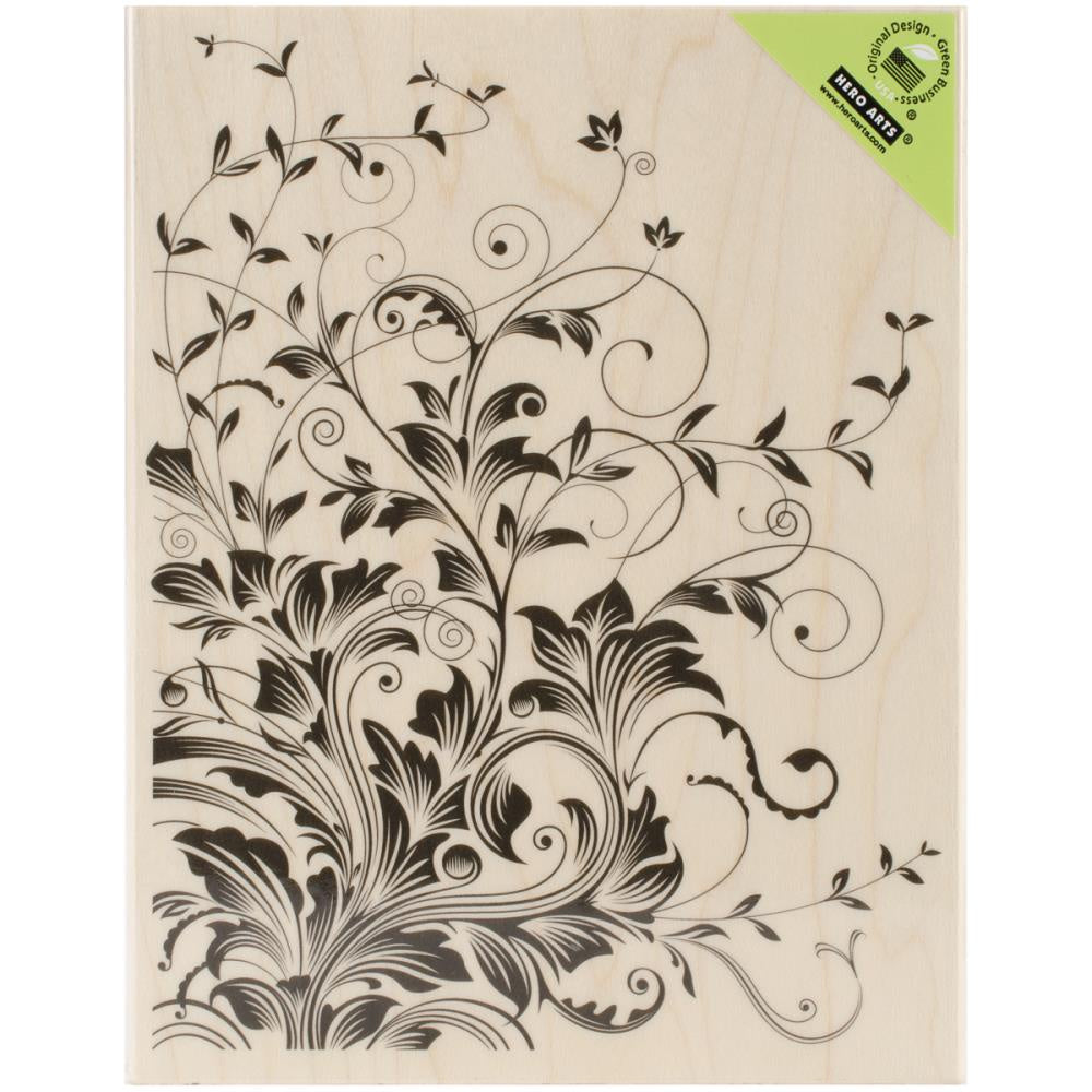 Hero Arts Mounted Rubber Stamp  Leafy Vines