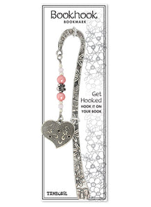 Bookhook Charm Heart Pink