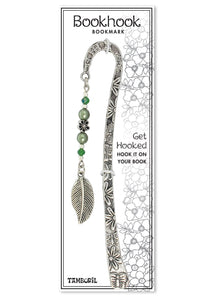 Bookhook Charm Leaf Green