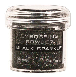 Embossing Powder Ranger Black Sparkle