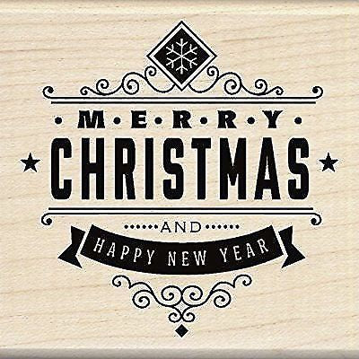 Inkadinkado Mounted Rubber Stamp Christmas greeting.