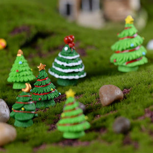 Mini Christmas Tree 5 pcs Micro Landscape