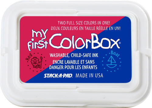 My First ColorBox 2-Color Ink Pad Red Boat