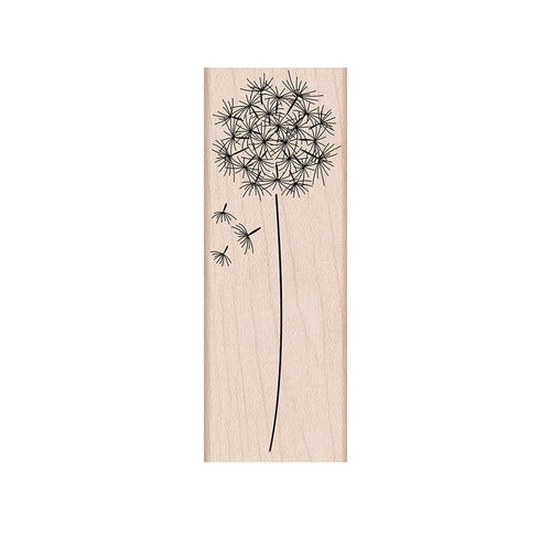 Mounted Rubber Stamp Dandelion