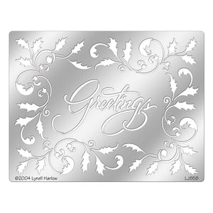 Dreamweaver Metal Stencil Greetings
