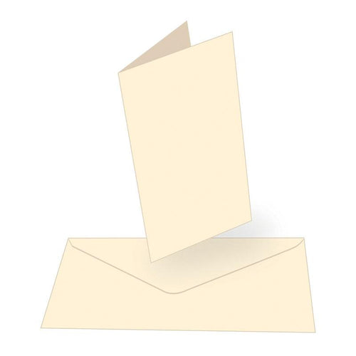 Card and Envelope Set x 50 Cream Tall