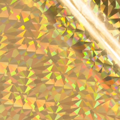 Foil Gold (Iridescent Triangular Pattern) Heat activated