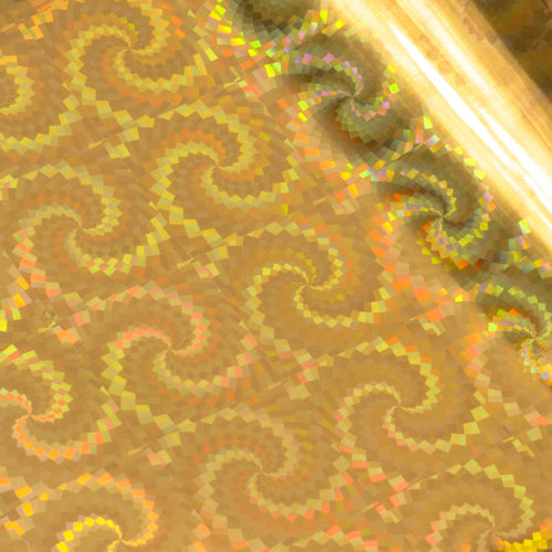 Foil Gold (Iridescent Spiral Pattern) Heat activated