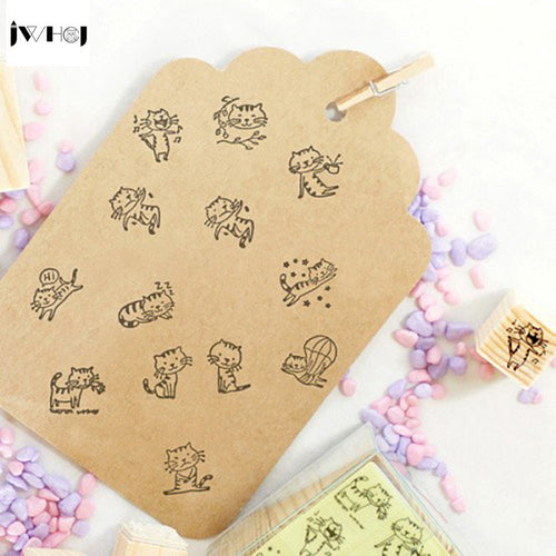 DIY 12pcs Cat Stamp Set