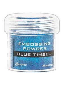 Embossing Powder Blue Tinsel