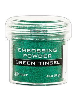 Embossing Powder Green Tinsel