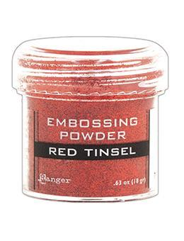 Embossing Powder Red Tinsel