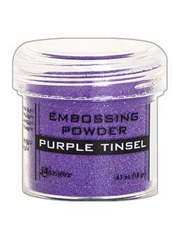 Embossing Powder Purple Tinsel