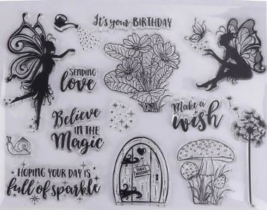 Fairy Clear Cling Stamp Set