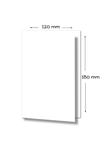 Marshmallow 120x180 Folded Card 261gsm Crisp White