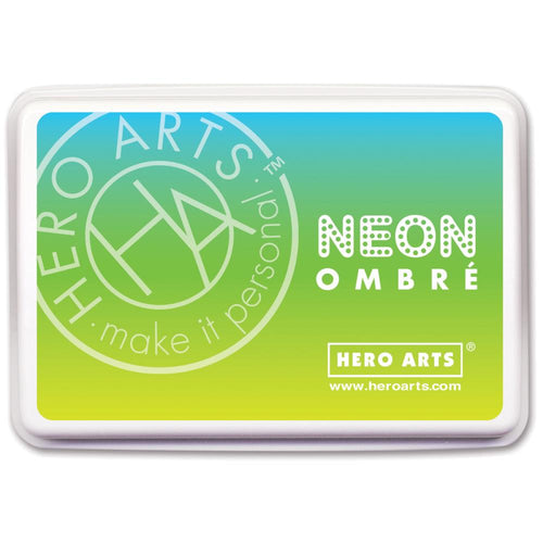 Ombre Ink Pad Chartreuse to Blue