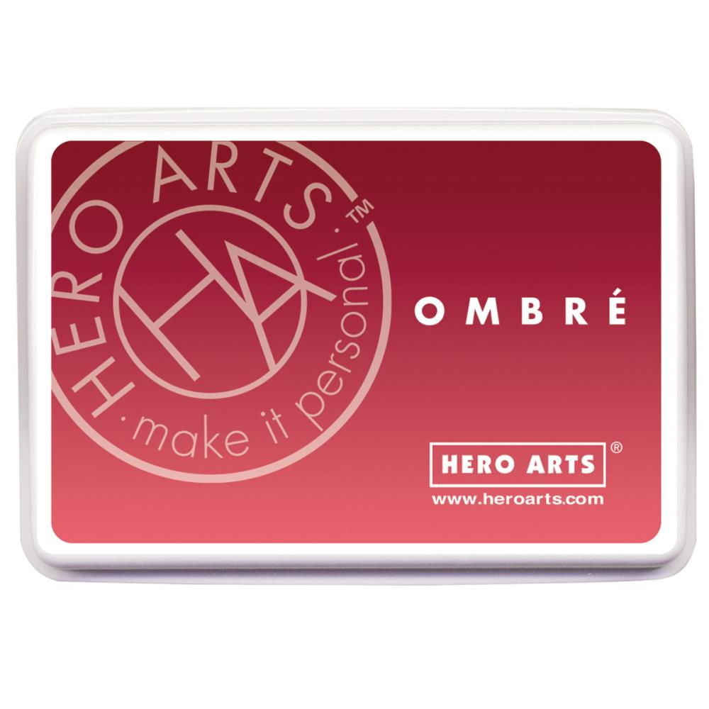 Ombre Ink Pad Light to Red Royal
