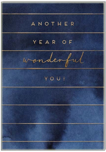 Another year of wonderful you