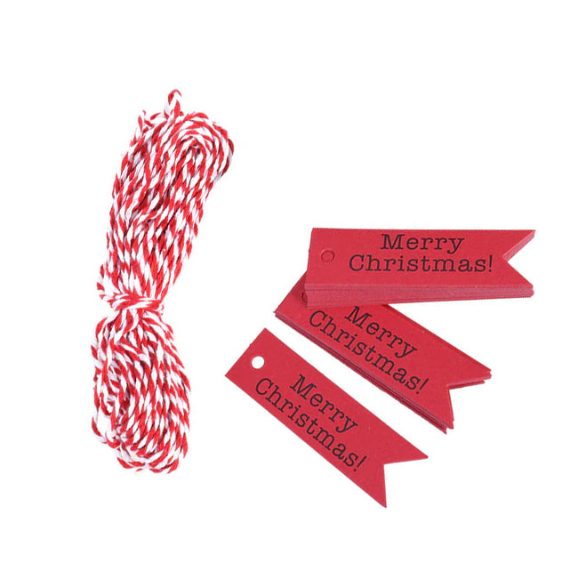 Merry Christmas Gift Tag Red x 10