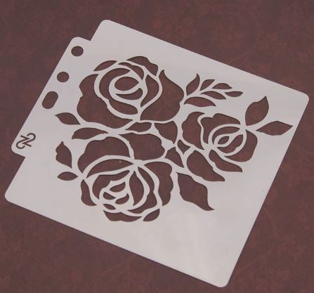 Stencil Roses