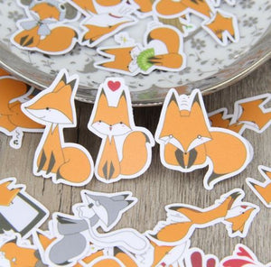 Sticker Set Fox 40 pcs