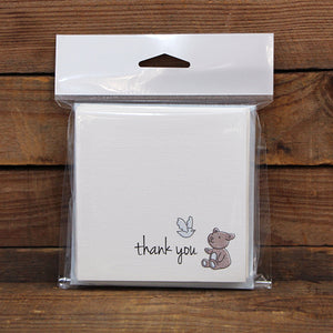 Thank You Square Printed Card Pack Bebe Bleu Pack 10